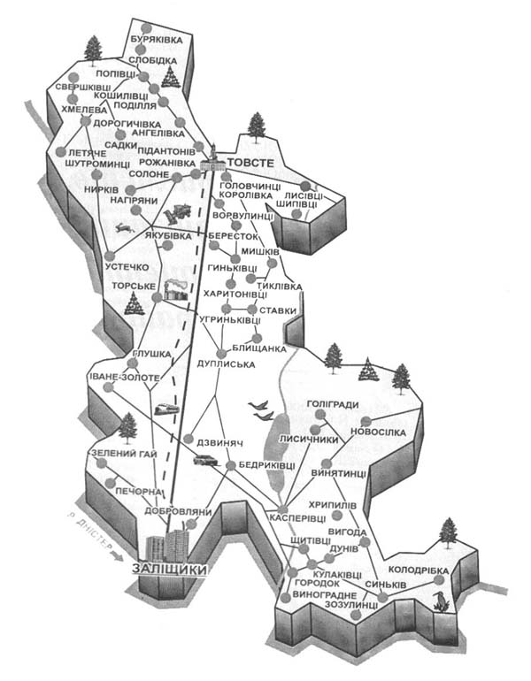 карта Заліщики